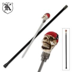 Biker Skull Treasure Sword Cane