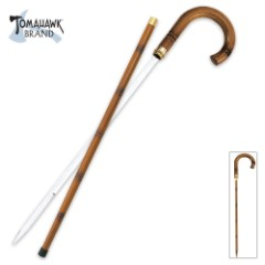 Rattan Self Defense Sword Cane