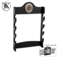 Four Tier Samurai Sword Wall Mount Display