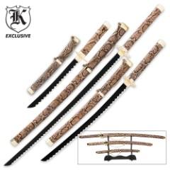 3-Piece Snakeskin Ninja Sword Set