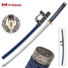 Shinwa Wellspring Handmade Tachi / Samurai Sword - Hand Forged Damascus Steel - Historical Katana Predecessor - Traditional Wooden Saya - Cleaning Kit - Functional, Battle Ready, Full Tang