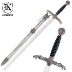 Dragons Lair Templar Long Sword & Scabbard
