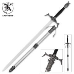Skeleton Slayer Fantasy Sword With Scabbard