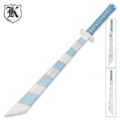Sky Blue Stripes Gaming Sword