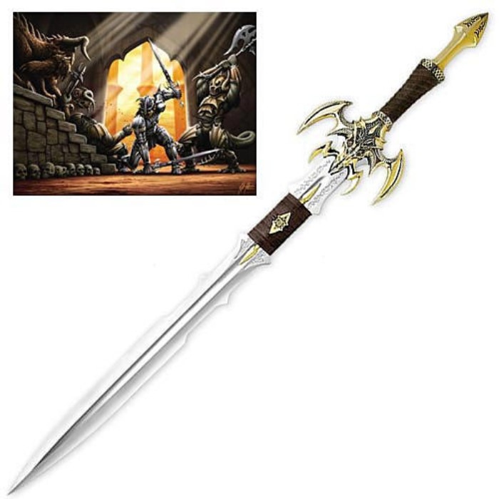 Kit Rae Exotath Gold Limited Edition Sword | BUDK com