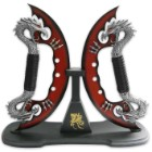 Dragon Crescent Moon Knife Set