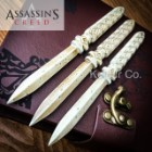 "Assassin's Creed Aguilar's Throwing Knife Replica Set with Faux Leather Pouch, ""Journal"" Box"