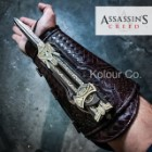 Assassin's Creed Hidden Blade of Aguilar | Retractable Steel Blade Unsharpened | Faux Leather Gauntlet