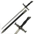Roaring Wolf Fantasy Sword With Scabbard