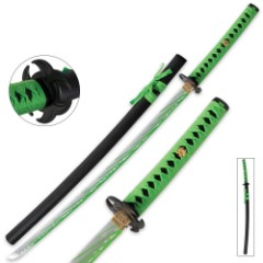 Zombie Apocalypse Katana Sword With Blood Splattered Blade