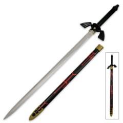 Zelda Red and Black Triforce Replica Sword