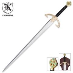 Emerald Knights Sword & Wall Plaque