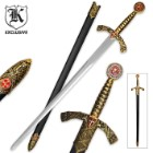 Golden Knight Middle Ages Sword