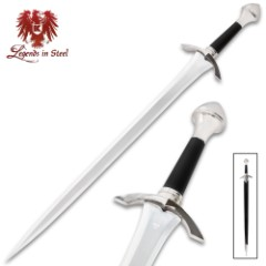 Medieval Knight Warrior Short Sword With Scabbard