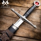 "Tomahawk Black Prince Medieval Sword With Sheath - Historical Reproduction, Cast Metal Handle - 22 1/2"" Length"