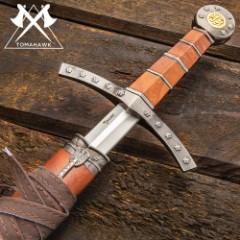 Templar Golden Short Sword w/ Stunning Scabbard