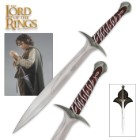 "The Lord of the Rings Sting Sword of Frodo Baggins With Wall Plaque - Engraved With Elven Runes - 22"" Length"