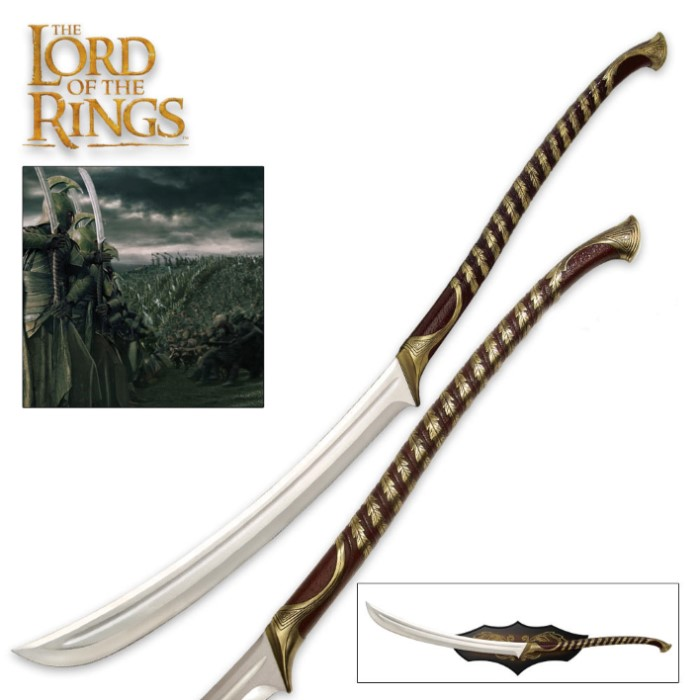 The Lord Of The Rings High Elven Warrior Sword Budk Com