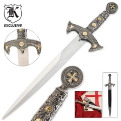 Knight's Templar Style Short Sword