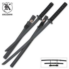 2-Piece Samurai Warrior Wood Sword Set