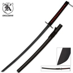 Ninja Warrior Black Blade Katana Sword with Scabbard