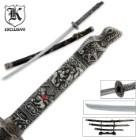 3 Pc. Dragon Conqueror Samurai Sword Set & Display Stand