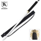 Stealth Ninja Black Samurai Ninjato Sword & Sheath