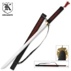 Red Warrior Ninja Samurai Ninjato Sword & Sheath