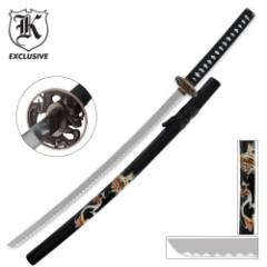 Golden Dragon Samurai Katana With Sheath