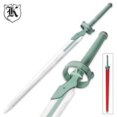 Anime Lightning Flash Sword with Wood Scabbard