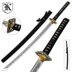 Dueling Dragon Samurai Katana Sword Carbon Steel Black