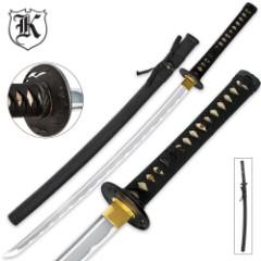 Black Bonsai Samurai Katana Sword Carbon Steel With Scabbard