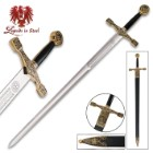 Excalibur Deluxe Sword WIth Gold Finish