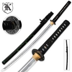 Bamboo Stalker Samurai Katana Sword With Scabbard