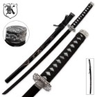 Doragon Katana Sword With Engraved Scabbard