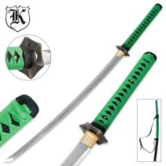 Undead Samurai Katana Sword With Shoulder Scabbard