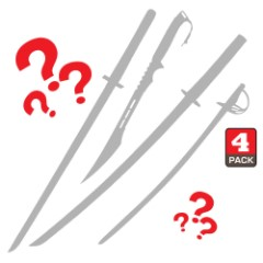 Four Sword Mystery Set – Random Selection, Customer Favorites, High Quality, Deep Discount