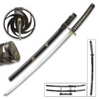 Undercover Tactical Two-Piece Sword Set With Scabbards - Carbon Steel Blades, Cotton Wrapped Wooden Handles, Display Stand