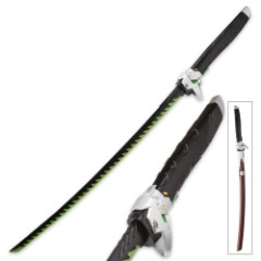 Galactic Shogun Fantasy Display Katana with Wooden Scabbard