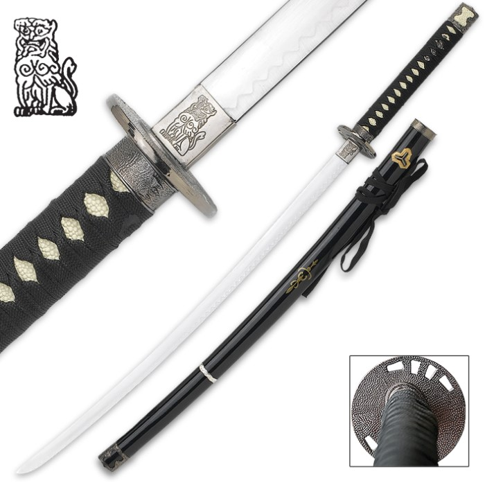 Japanese Dragon Warrior Samurai Katana Sword