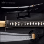 Shinwa Royal Warrior Handmade Katana / Samurai Sword - Hand Forged Damascus Steel, Hamon - Razor Sharp, Full Tang - Fully Functional, Ninja Bold - Faux Ray Skin, Cord Wrap, Custom Wing Tsuba Design
