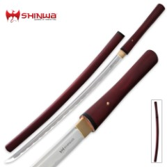 Shinwa Red Satin Shirasaya Sword
