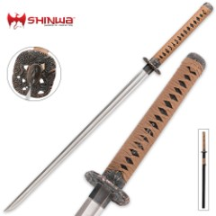 Shinwa Royal Zatoichi Brown Damascus Sword