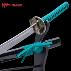 Shinwa Regal Katana Teal Sword Damascus