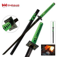 Shinwa Undead Warrior Black Damascus Katana Sword