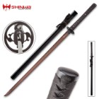Shinwa Unbroken Night Handmade Katana / Samurai Sword - Hand Forged Black Damascus Steel - Razor Sharp, Full Tang - Fully Functional, Battle Ready, Ninja Sleek - Faux Ray Skin