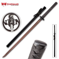 Shinwa Black Knight Damascus Katana Sword