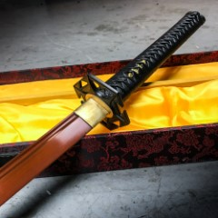 Hand Forged Masahiro Samurai Sword Anodized Copper Finish With Scabbard
