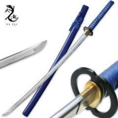 Ten Ryu Hand Forged Carbon Steel Samurai Katana Blue