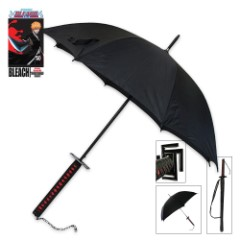 Officially Licensed Bleach Ichigo Kurosaki Samurai Sword Handle Anime Umbrella